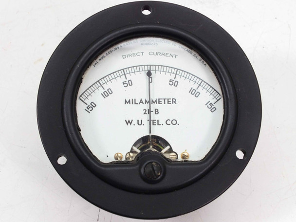 Simpson Electric 21-B DC Milammeter Panel Mount -150 - 150