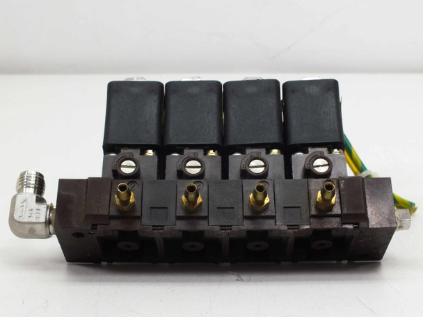 Asco 10900001 / 18900001 4 Solenoid Valves 430 04419 with Manifold 110/115VAC