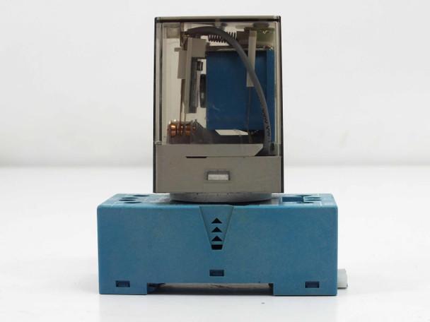 Finder 60.12 10A - 250V Relay with Finder Type 90.20 Socket