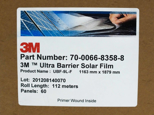 3M UBF-9L-F Ultra Barrier Solar Panel Top Sheet for Thin Film Solar Panels - 1163 mm Wide