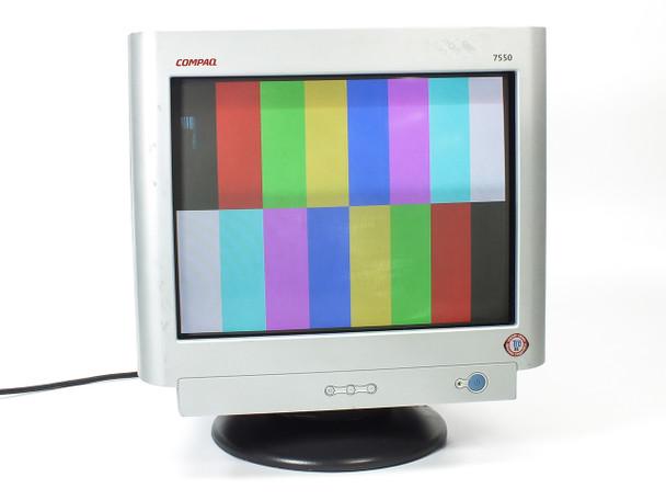 "Compaq USED 17"" CRT Monitor SVGA - 7550 / PE1161T / PE1161 - Black/Grey (V7550)"