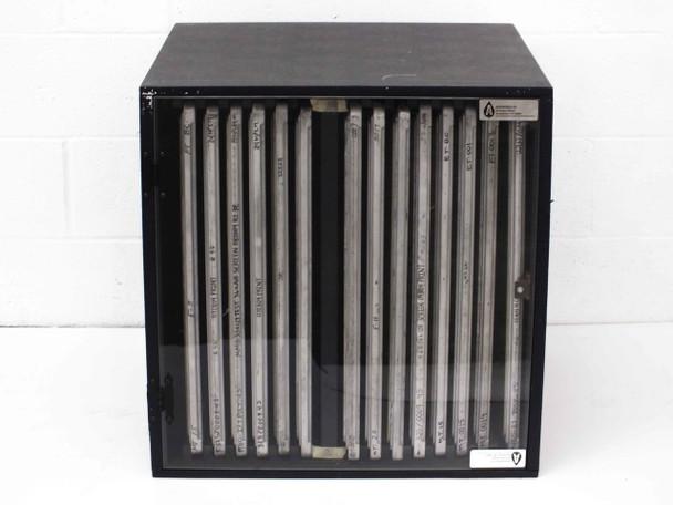 Aerofeed Screen Storage Cabinet with Aluminium Silk Screen Frames 25 Inch