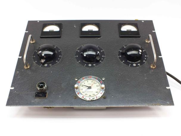 Powerstat Adjust-A-Volt 116U PRI 115V SEC 0-135V Panel w/3 Variacs with Meters