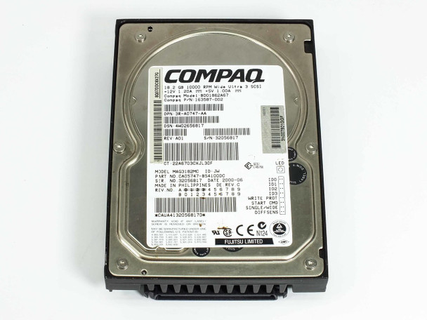 """Compaq 163587-002 18.2GB SCSI 3.5"""" HDD 10000RPM with 80-Pin SCA Hot Swap Connector"""
