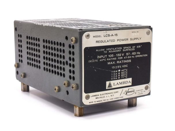 Lambda LCS-A-15 Regulated Power Supply PRI 120 VAC SEC 15 VDC 1.8A