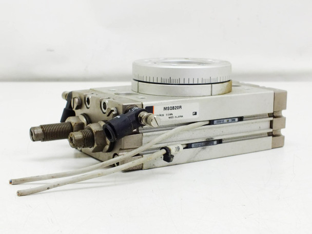 SMC MSQB20R Pneumatic Actuator Rotary Table Rack and Pinion Stage