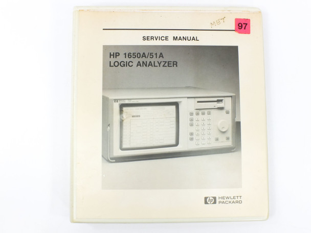 HP 1650A/1651A  Logic Analyzers Service Manual