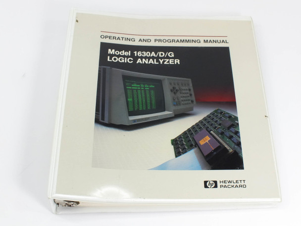 HP 1630A/D/G  Logic Analyzer Operating and Programming Manual
