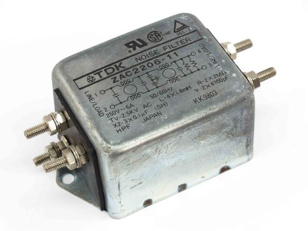 TDK ZAC2206-11 Inline Noise Filter 250V 6A 50/60 Hz