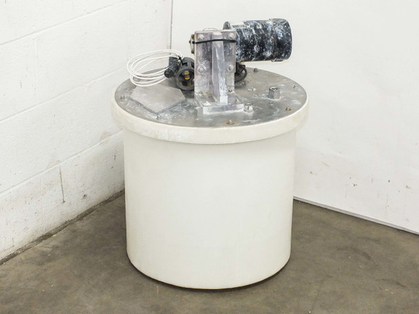 "Ryan Herco 17 Gallon  HDPE Tank with 5"" Mixer & Baldor Motor AS-IS BAD Motor"