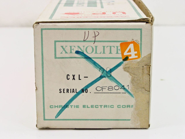 Christie Electric CXL 20 Xenolite Xenon Short-Arc Projection Lamp