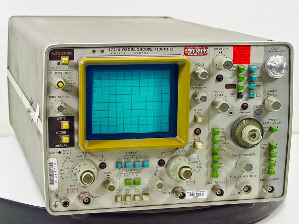 Hewlett Packard 1741A Oscilloscope 100MHz -AS-IS / FOR PARTS Bad Display