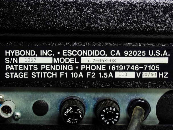 Hybond 512-06x-08 UItlrasonic Wedge Wire Bonder Nikon SMZ-1 Head -AS-IS