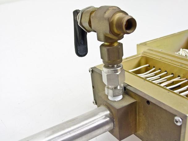 "Vacuum 43""  Feedthrough Tube w/ Valve and 6 pin, 7 pin, 30 pin"