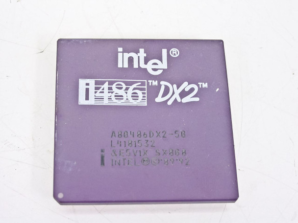 Intel SX808 486/50Mhz Processor A80486DX2-50 Vintage CPU with GOLD