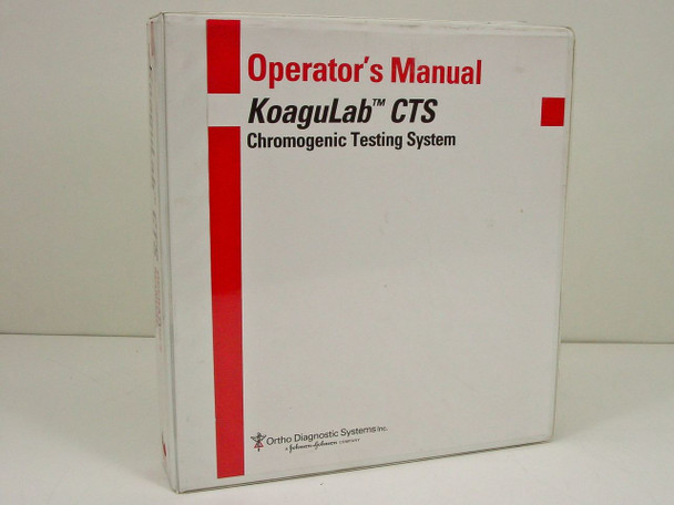 Koagulab 620-20-116-1  Koagulab CTS Chromogenic Testing System Operator's
