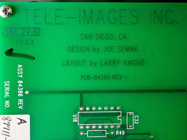 Tele-Images, Inc. Console for Speaker and Room Control 84386