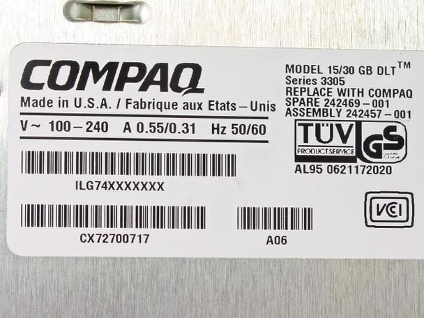 Compaq  15/30 GB DLT  3305 Series Tape Drive
