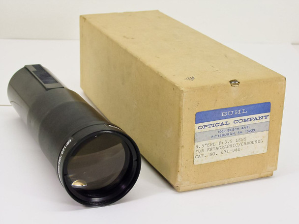 "Buhl Optical  Projection Carousel Lens  8.5"" EFL F 3.9"