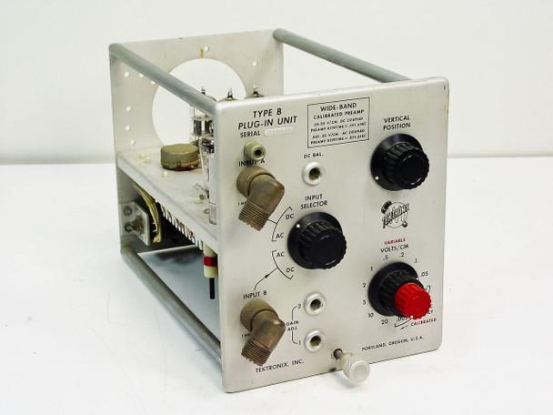 Tektronix  Type B Plug-in Unit   Wide Band Calibrated Preamp