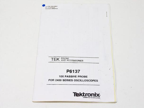 Tektronix P6137  Instruction Sheet