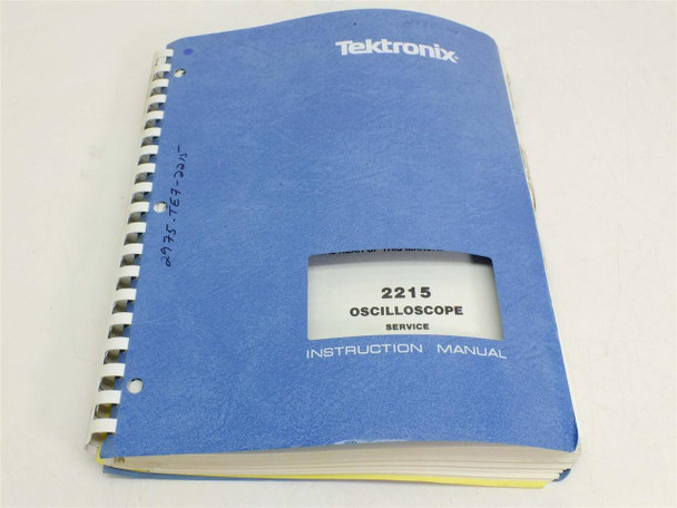 Tektronix 2215 Oscilloscpe service  Instruction Manual