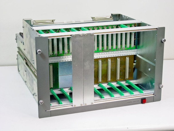 """Unbranded Generic 20-Slot Control Card Cage - 19"""" Rackmount - As Is"""