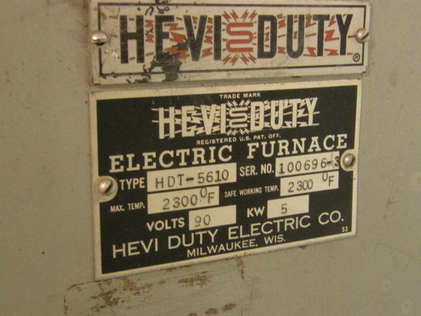 Hevi Duty HDT-5610  Electric Box Furnace 2300 F Max