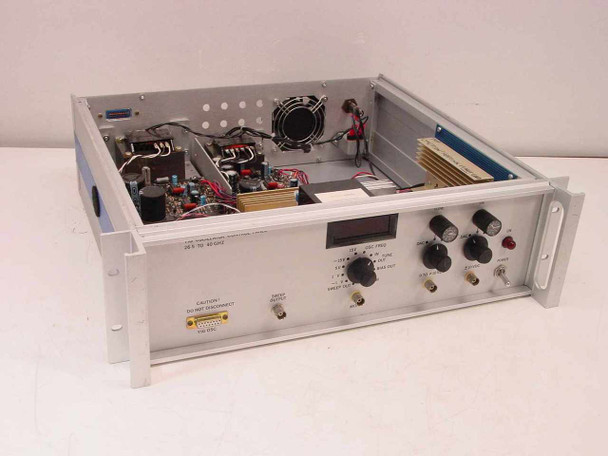 Generic YIG Oscillator Control Panel in Aluminum Rackmount 26.5 to 40 GHz
