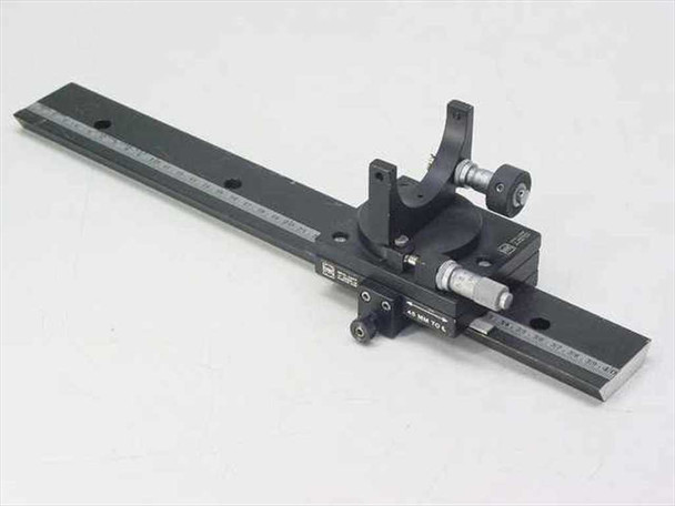 """Oriel Optical Alignment Rail with 3"""" x 3.5"""" Stage, Mirror Mount & 2 Micrometers"""