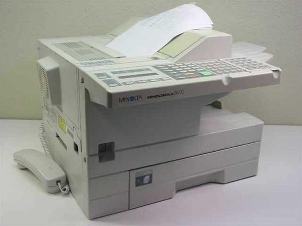 Minolta MinoltaFax 5600 Fax Machine - Missing Telephone Cradle on Back - As Is