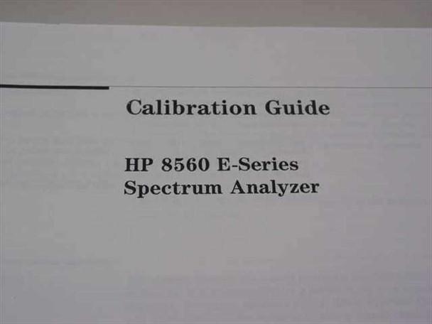 HP 08560-90093  8560 E-Series Spectrum Analyzer Calibration Guide