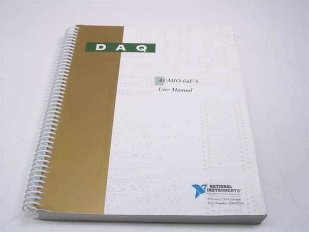National Instruments AT-MI0-64F-5  DAQ User Manual