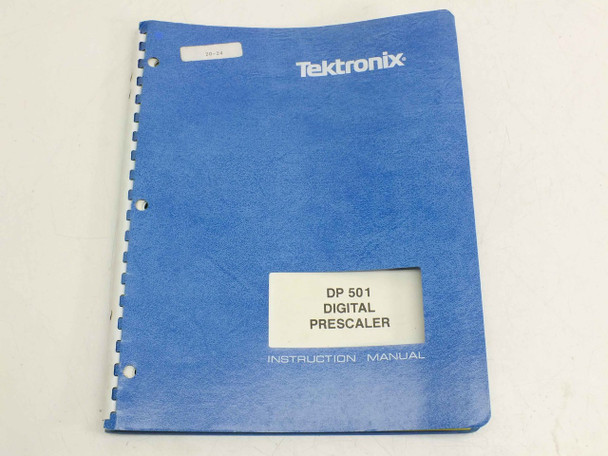 Tektronix 070-4332-00  DP 501 Digital Prescaler Instruction Manual
