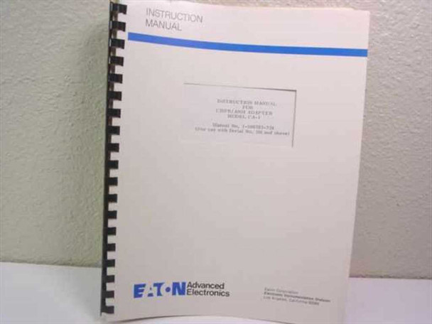 Eaton Advanced Electronics 1-500783-324  Instruction Manual for CISPR/ANSI Adapt