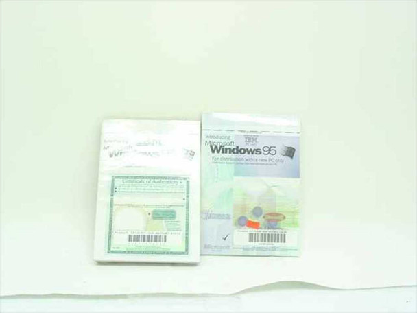Microsoft X03-32822  Introducing Windows 95 Booklet & CD