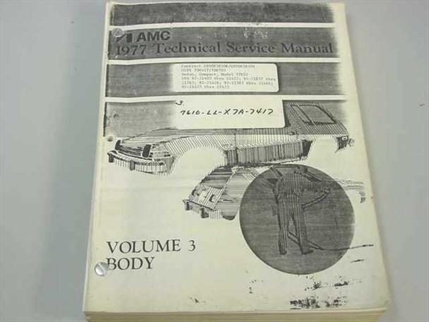 AMC 77057 1977 Technical Service Manual Vol 3 Body Pacer Gremlin Hornet Matador