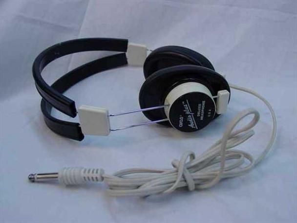 """Avas Deluxe Mono Headphones / Headset 1/8"""" Jack with Straight Cable (Audio Plus)"""
