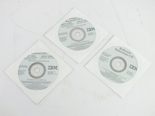 IBM 19K6414  PC 300GL - 300 PL Product Recovery CD Set