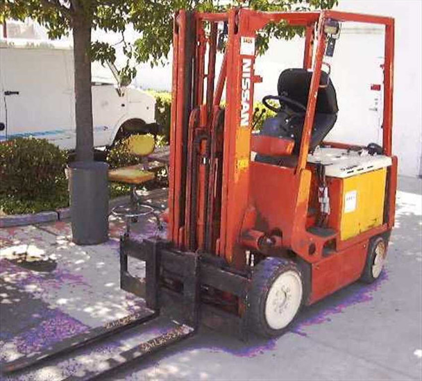 Nissan C MO2 5000 LBS Electric Forklift with Safety-Seat Emergency Brake