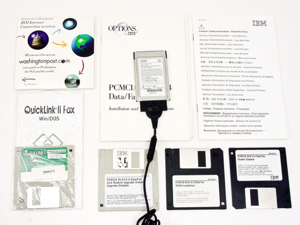 IBM 28.8K PCMCIA Upgradable to 33.6 w/cable 85H4630