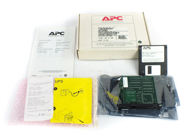 """APC AP9605 Power Net SNMP Adapter with 3.5"""" Disk Software Manual - No Battery"""