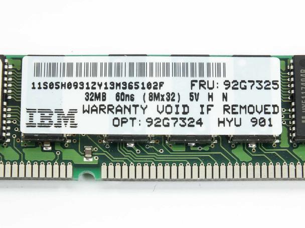 IBM 92G7325 1x32MB Memory 60ns (8x32) 72-Pin Non Parity EDO 92G7324 RAM STICK