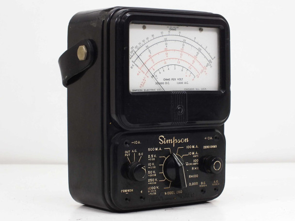 Simpson Model 260-2  Series 2 Analog VOM Multimeter VINTAGE