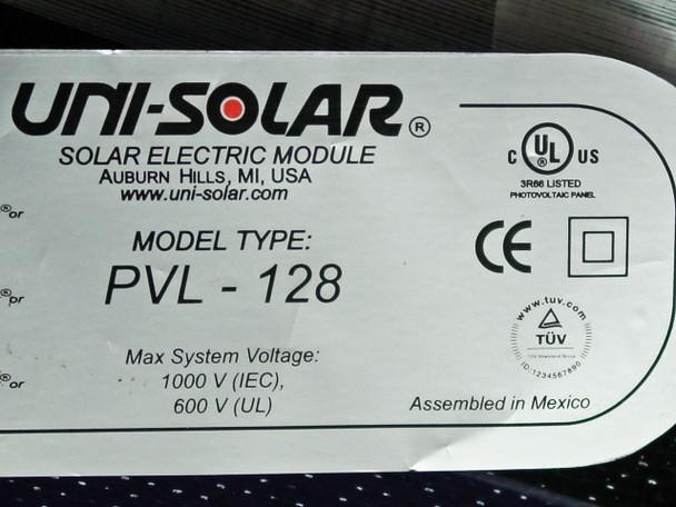 Uni-Solar PVL-128 128 Watt 24V Flexible Solar Panels - 3,840 Watt Carton of 30