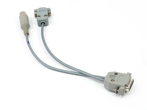 Generic 5-Pin Din + 9-Pin Serial to 15-Pin Connector Adapter Cable