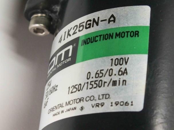 Oriental Motor 25W 100V Motor w OM Gear Head 4GN180K w Sandex 6DF Indexing Drive