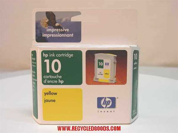 HP Ink Cartridge 10 Yellow (Exp Date 2003) (C4842A) - AS IS
