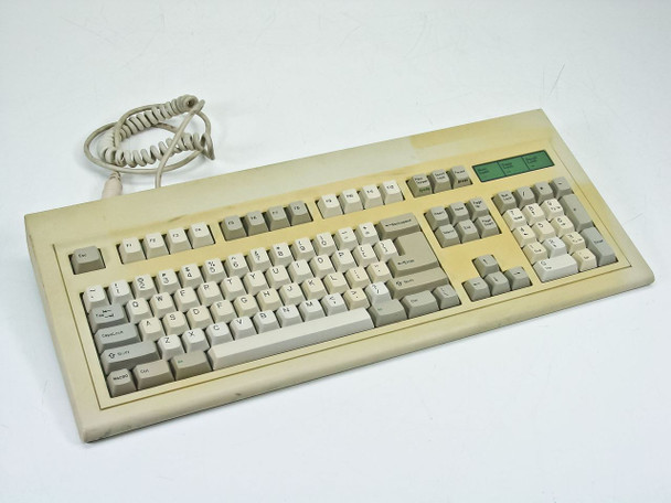 BTC 5339R-0 AT Keyboard - 53 Series - with Coiled Cord - Yellowed