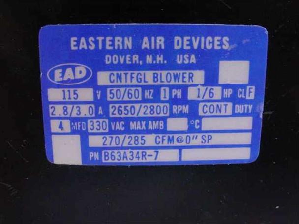 Eastern Air Devices B63A34R_7 Centrifugal Blower 270/285CFM